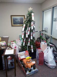 Angel Tree gifts as of 8 Dec.